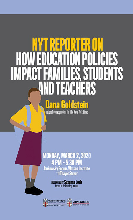 Dana Goldstein ─ NYT Reporter on How Education Policies Impact Families, Students and Teachers
