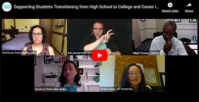 Examining the Evidence: Supporting Students Transitioning from High School to College and Career in the Time of COVID-19