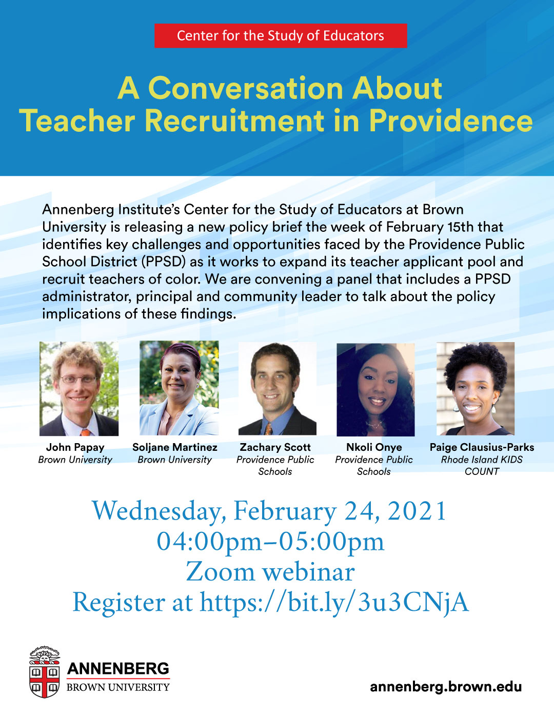 A Conversation About Teacher Recruitment in Providence