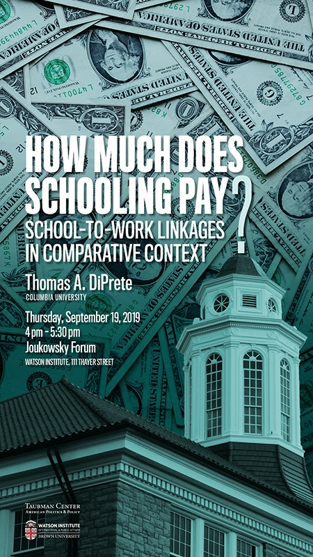 Thomas DiPrete ─ How Much Does Schooling Pay? School-to-Work Linkages in Comparative Context